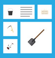 flat icon farm set of wooden barrier cutter vector image