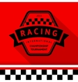 Racing stamp-09 vector image
