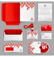 Corporate Identity Red vector image