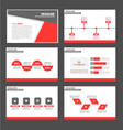 Red and Black presentation templates Infographic vector image