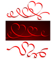 red bow heart vector image vector image