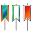 Three banners vector image vector image