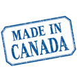Canada - made in blue vintage isolated label vector image