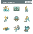 Icons line set premium quality of sports vector image
