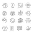 artificial intelligence icon set editable stroke vector image