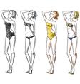Attractive girl wearing bikini vector image
