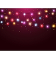 Colorful lights with confetti vector image