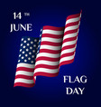 greeting card of flag day vector image