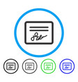 mail attachment rounded icon vector image