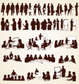 Business People Silhouettes vector image vector image
