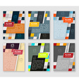 Set of business flyer template brochure or vector image