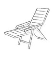 isolated beach chair vector image