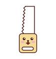 woodworking saw kawaii character vector image