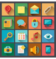 set of web icons in flat design style vector image