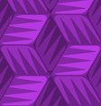 Purple 3d cubes striped with triangles seamless vector image