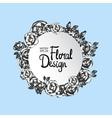 Vintage floral round frame vector image