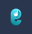 Letter E hand logo icon design template elements vector image