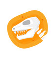 dinosaur icon archaeological paleontology icon vector image