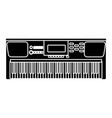 music keyboard instrument vector image