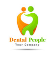 Abstract of teeth Dental logo design Template for vector image