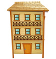 Wooden house with three stories vector image