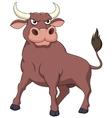 Strong bull cartoon vector image
