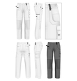 Mens working trousers design template vector image vector image