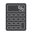 calculator silhouette vector image