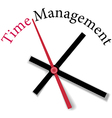 Efficient time management clock work vector image