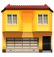 A yellow house vector image