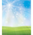 background sky grass vector image