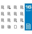 black document icons set on white background vector image