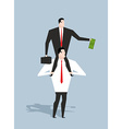 Business motivation Boss stimulates manager job vector image
