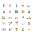 Children toys in flat style vector image