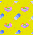 colored seamless pattern delicious pastries and vector image