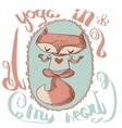 Cute fox enjoys the yoga vector image