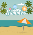 Enjoy Summer background with text vector image