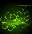 Glowing green digital flower vector image