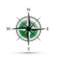 green compass vector image