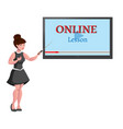 online education design concept vector image