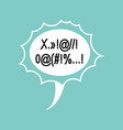 profanity comic speech bubble isolated place for vector image