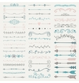 Colorful Hand Drawn Dividers Arrows vector image