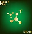 atom molecule symbol icon of physics or chemistry vector image