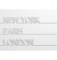 modern capitals background vector image