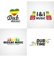 Set of africa flag logo design Jamaica music vector image