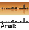 Amarillo skyline in orange vector image vector image