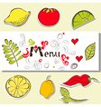 template for menu vector image