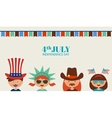 kids with costume and props for independence day vector image