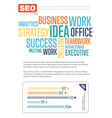 Business infographics banner with diagram vector image