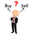 Businessman confused vector image